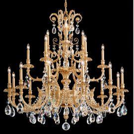 Lustre Cristal Schonbek - Lustra LUX 21 brate, stil floral cu cristale Spectra, Genzano GE4721