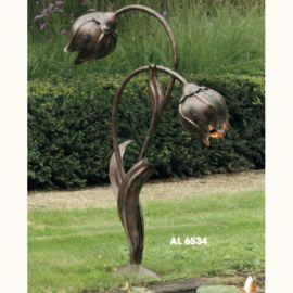 Stalpi Fier Forjat - Lampa iluminat exterior din fier forjat design lalea AL 6534