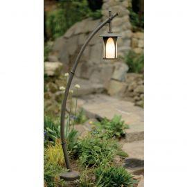 Stalpi Fier Forjat - Stalp iluminat exterior din fier forjat, inaltime 158cm, AL 6641