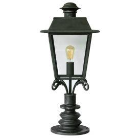 Stalpi Fier Forjat - Stalp iluminat exterior din fier forjat, inaltime 84cm, AL 6796