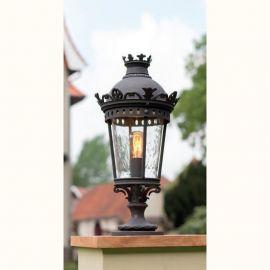 Stalpi Fier Forjat - Stalp iluminat exterior din fier forjat, inaltime 69,8cm, AL 6877
