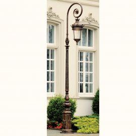 Stalpi Fier Forjat - Stalp iluminat exterior din fier forjat, inaltime 490cm, AL 6717