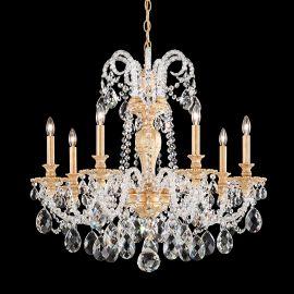 Lustre Cristal Schonbek - Lustra 7 brate design LUX Crystal Optic Isabelle 6307