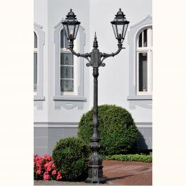 Stalp iluminat exterior din fier forjat, inaltime 335cm, AL 6721