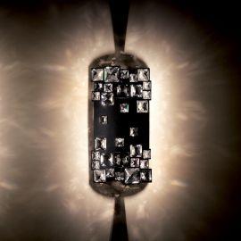 Aplice Cristal Swarovski - Aplica design LUX cristal Swarovski Mosaix SMX615, negru