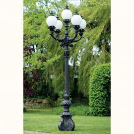 Stalpi Fier Forjat - Stalp iluminat exterior din fier forjat, inaltime 462cm, AL 6666