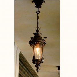 Lustre Exterior Fier Forjat - Pendul iluminat exterior din fier forjat, HL 2529