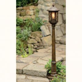 Stalpi Fier Forjat - Stalp iluminat exterior din fier forjat, inaltime 146,9cm, AL 6881