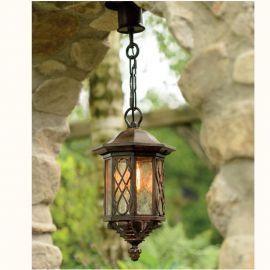 Lustre Exterior Fier Forjat - Pendul iluminat exterior din fier forjat, HL 2419
