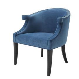 Scaune - Scaun design LUX Margaux, catifea albastra
