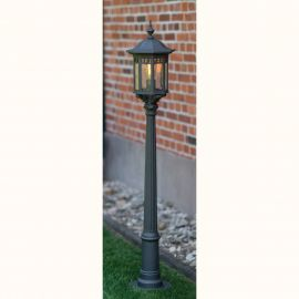 Stalpi Fier Forjat - Stalp iluminat exterior din fier forjat, inaltime 151,6cm, AL 6884