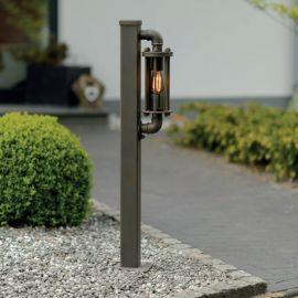 Stalpi Fier Forjat - Stalp iluminat exterior din fier forjat, inaltime 110cm, AL 6824