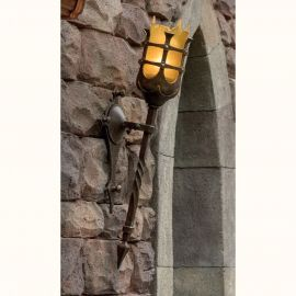Aplice Exterior Fier Forjat - Aplica/ Torta din fier forjat iluminat exterior in stil gotic WL 3478-A
