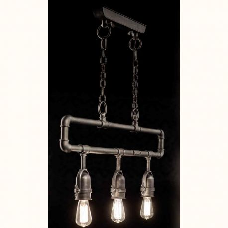 Lustre, Candelabre Fier Forjat - Lustra design industrial din fier forjat HL 2610