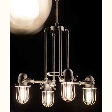Lustre, Candelabre Fier Forjat - Lustra design industrial din fier forjat HL 2623
