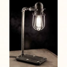 Veioze, Lampadare Fier Forjat - Lampa de masa design industrial din fier forjat TL 4101