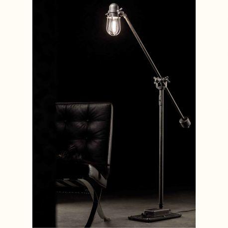 Veioze, Lampadare Fier Forjat - Lampa de podea design industrial din fier forjat SL 108