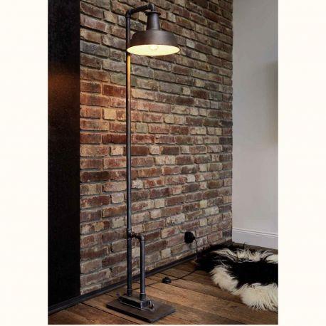 Veioze, Lampadare Fier Forjat - Lampa de podea design industrial din fier forjat SL 107