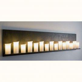 Aplice perete Fier Forjat  - Aplica din fier forjat cu 15 surse de lumina design lumanare WL 3639