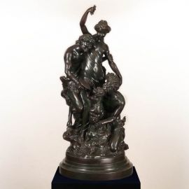 Statuete - Figurina / Statueta decorativa de LUX din bronz C. M. Clodion