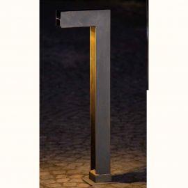 Stalp LED iluminat exterior din fier forjat, inaltime 115cm, AL 6829