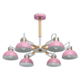 Candelabre, Lustre - Lustra moderna camera tineret Lary 6L roz
