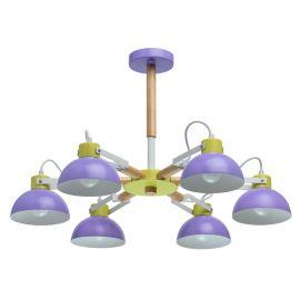Iluminat pentru copii - Lustra moderna camera tineret Lary 6L violet