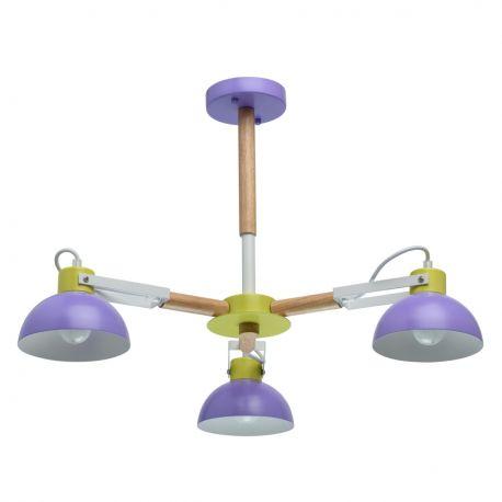 Candelabre, Lustre - Lustra moderna camera tineret Lary 3L violet