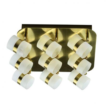 Plafoniere cu spoturi, Spoturi aplicate - Plafoniera LED moderna cu spoturi directionabile Inka 9L