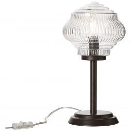 Veioze - Veioza / Lampa de masa stil clasic TANIC maro/transparent