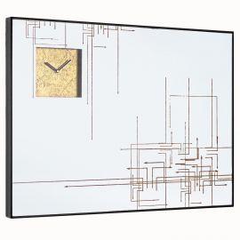 Decoratiuni perete - Oglinda de perete cu ceas integrat GLACE 80X60cm