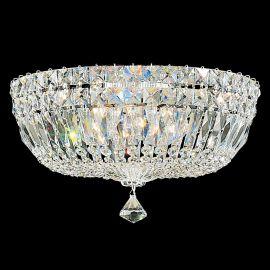 Plafoniere Cristal Schonbek - Plafoniera design LUX Crystal Gemcut, Petit Crystal Deluxe 5893, 36cm