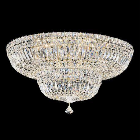 Plafoniere Cristal Schonbek - Plafoniera design LUX Crystal Gemcut, Petit Crystal Deluxe 5895, 61cm