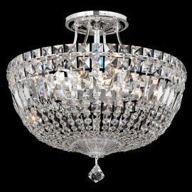 Plafoniere Cristal Schonbek - Plafoniera design LUX Crystal Spectra, Petit Crystal Deluxe 5902, 36cm