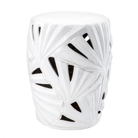 Masute Living - Masuta din ceramica pentru interior si exterior LUX Madeir alba