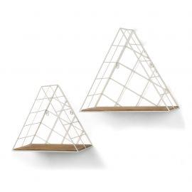 Biblioteci-Rafturi - Set 2 rafturi metalice TRENDY alb