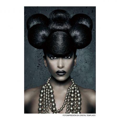 Tablouri - Tablou decorativ Mujer 80x120cm negru/ maro
