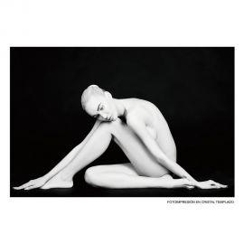 Tablou decorativ Mujer 120x80cm negru/ alb