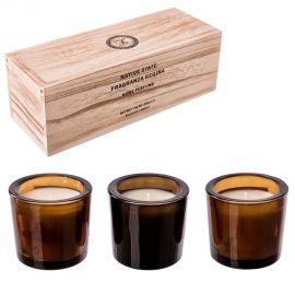 Set de 3 lumanari parfumate, GENTELMEN, Granada Noir