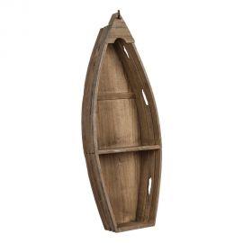 Biblioteci-Rafturi - Raft decorativ design vintage Barca, 81cm