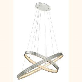Pendule, Lustre suspendate - Lustra LED cu doua inele ovale reglabile RICKON
