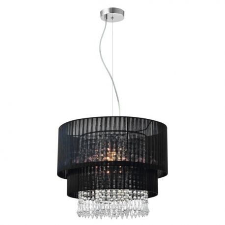 Candelabre, Lustre - Lustra eleganta LETA negru, 45cm