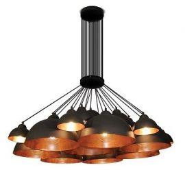 Pendule, Lustre suspendate - Lustra design industrial HL-3591-XXL CONALL negru/ cupru antic