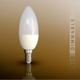 Becuri E14 - Bec LED Candel E14, dimable 7W 3000K