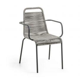 Scaun pentru interior sau exterior GLENVILLE, gri