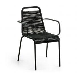 Scaun pentru interior sau exterior GLENVILLE, negru