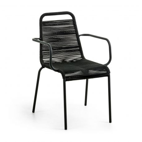 Scaune - Scaun pentru interior sau exterior GLENVILLE, negru