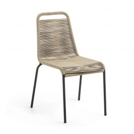 Scaun pentru interior sau exterior GLENVILLE, maro deschis