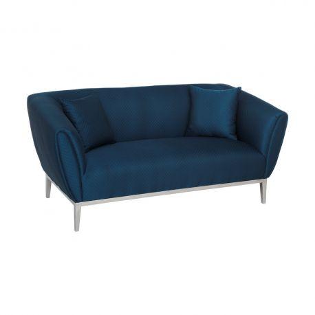 Canapele - Canapea fixa 2 locuri design elegant Blue