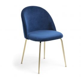 Scaune - Scaun elegant MYSTERE, auriu/ albastru inchis